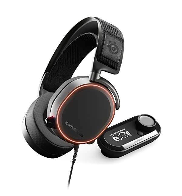 SteelSeries Arctis Pro + GameDAC Gaming Headset - Certified Hi-Res Audio System for PS4 and PC (Color: Black)