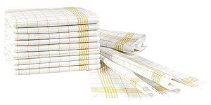 Fleuresse 3140 - Lote de trapos de cocina (50 x 70 cm, 10 unidades), color blanco y amarillo   Comentarios y más información