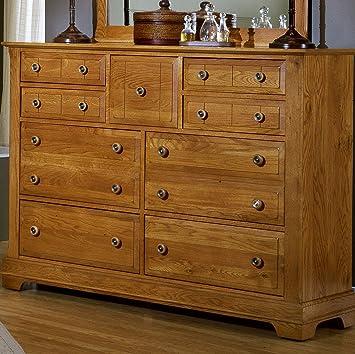 Cottage Triple 9 Drawer Dresser Finish: Oak