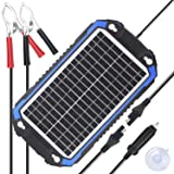 SUNER POWER 12V Solar Car Battery Charger & Maintainer - Portable 8W Solar Panel Trickle Charging Kit for Automotive, Motorcycle, Boat, Marine, RV, Trailer, Powersports, Snowmobile, etc. (Color: Navy Blue, Tamaño: 8W)