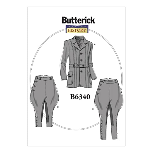 Titanic Edwardian Sewing Patterns- Dresses, Blouses, Corsets, Costumes  Banded Jacket Breeches & Jodhpurs XM (Small-Medium-Large) $9.99 AT vintagedancer.com