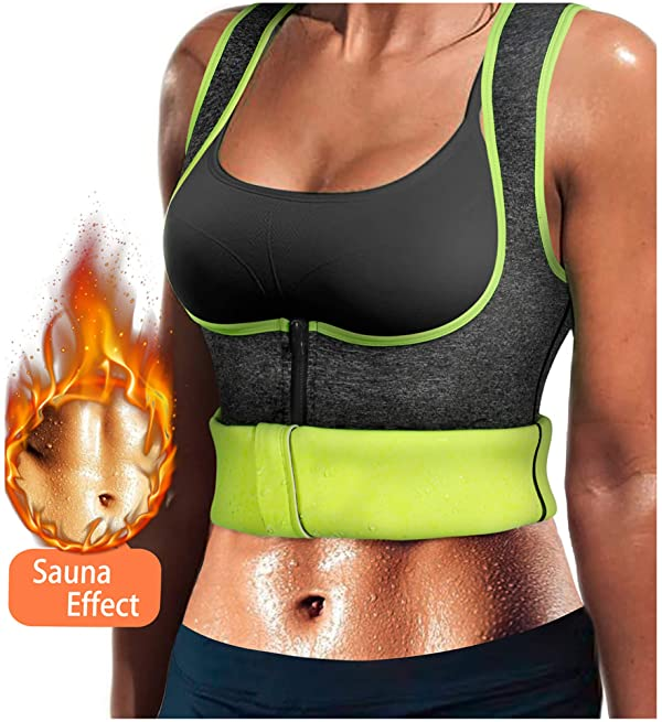 Women/'s Waist Trainer Vest Slimming Body Shaper Hot Swea BLACK X Large US 16 18
