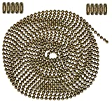 10 Foot Length Ball Chain, #6 Size, Antique Brown, & 10 Matching Connectors