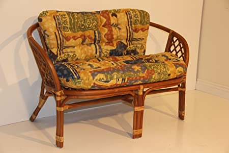 Bahama Handmade Rattan Wicker Loveseat with Cushion