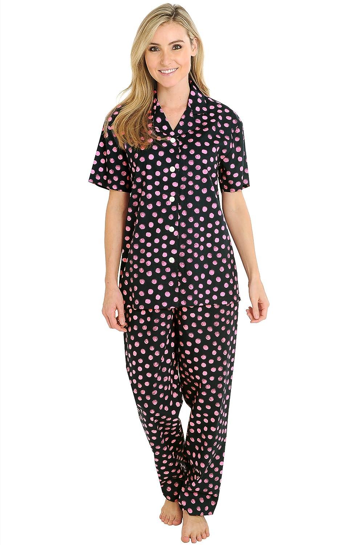 Del Rossa Short Sleeve Pajama Set