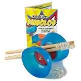 KickFire Diabolos Blue Comet Chinese YoYo Diabolo Set with Wooden Sticks and String