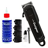 Wahl Professional Cordless Designer Clipper #8591 - 90 Minute Run Time - Accessories Included (With Clipper Oil) (Tamaño: With Clipper Oil)