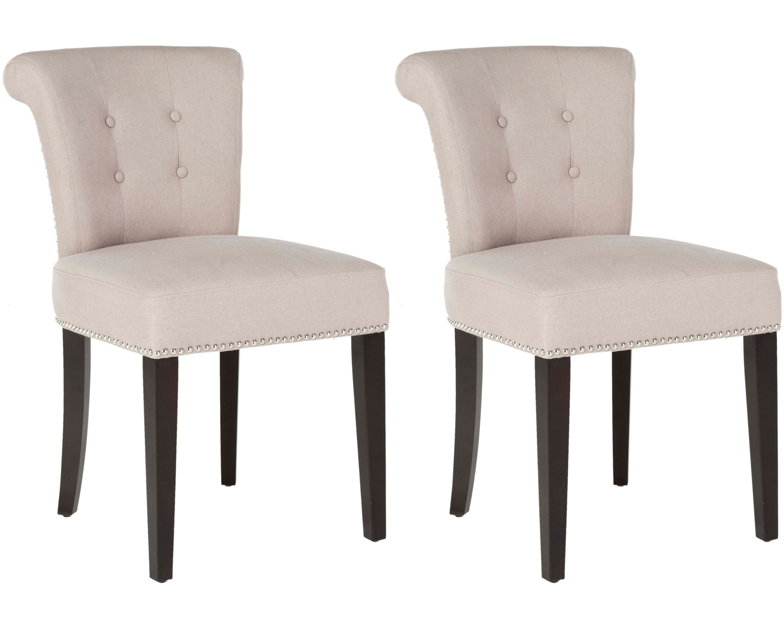 Safavieh Mercer Collection Carol Taupe Linen Ring Dining Chair, Set Of 2
