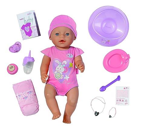 Baby Born Interactif – Coffret Fille – Poupon à Fonctions 43cm & Accessoires