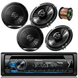 Pioneer DEH-S4000BT Car Bluetooth Radio USB AUX CD Player Receiver - Bundle Combo With 4x Pioneer TSG1620F 6.5