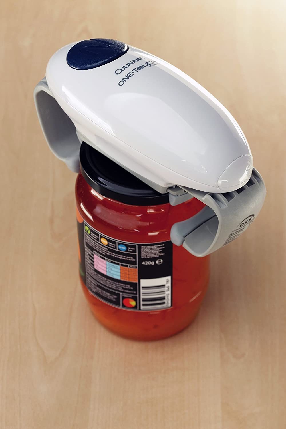 Electric one touch hands free cordless automatic jar