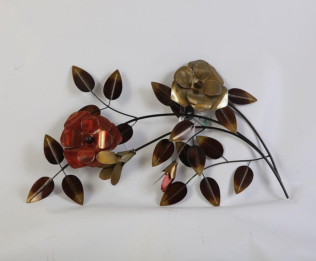 TWG Metal Wall Art Modern Wall Sculptures: Stem Flowers - Dogwood