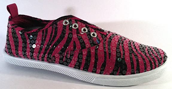 Cute Canvas Shoes Laceless Animal Print Sneakers Shoes W/Sequin Overlay 5 Colors For Women Sale Online Multicolor Collections
