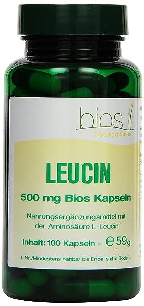 Bios Leucin 500 mg, 100 Kapseln, 1er Pack (1 x 59 g)