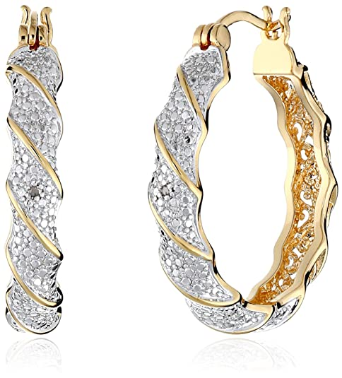 18k-Yellow-Gold-Plated-Two-Tone-Diamond-Accent-Twisted-Hoop-Earrings