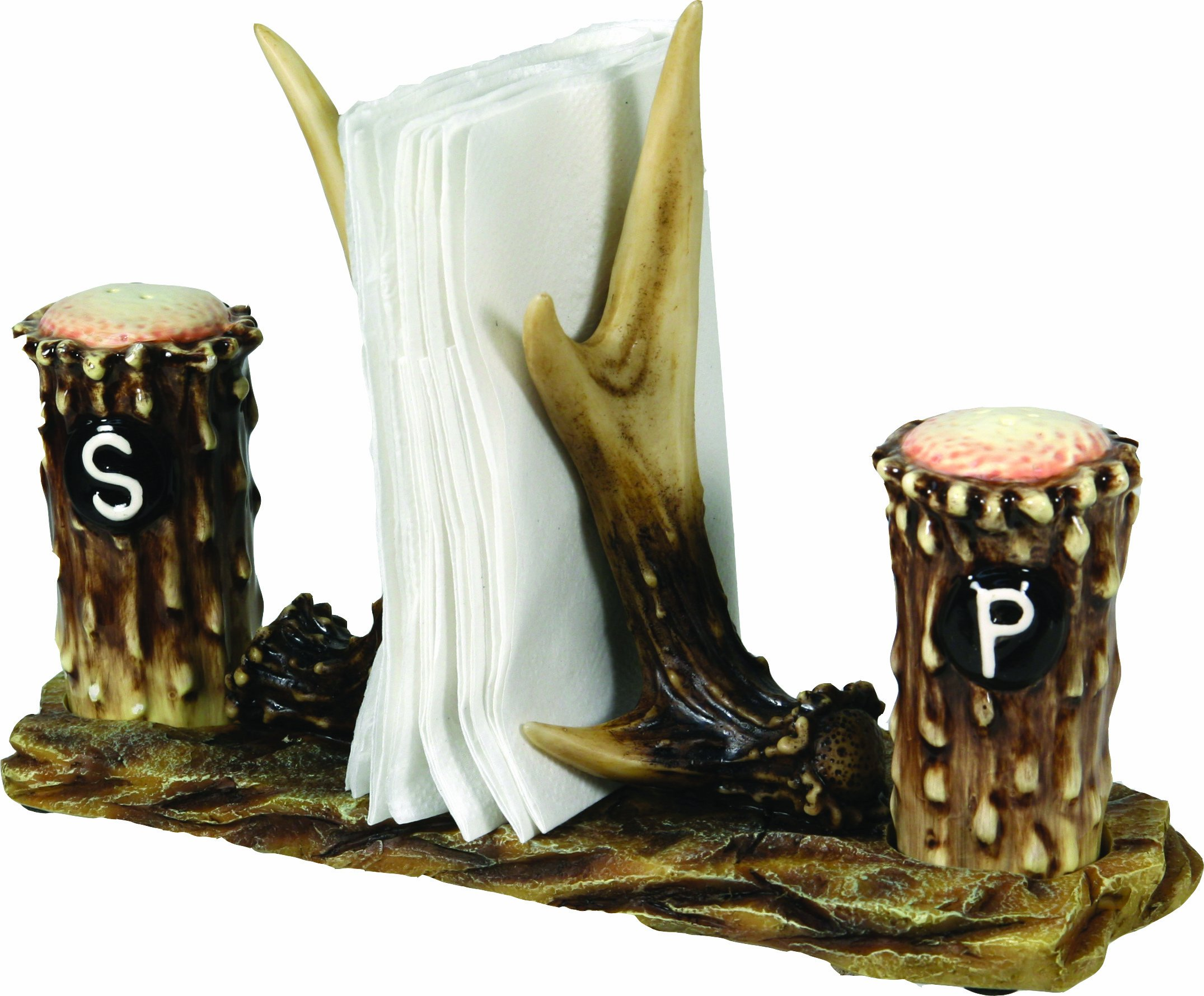 Highly Detailed and Beautifully Painted Antlers Make a Uniquely Beautiful Napkin Holder