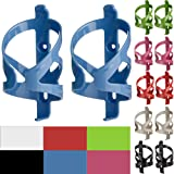 50 Strong Bike Water Bottle Holder 2 Pack – Made in USA – Easy to Install - Durable Bicycle Cage - Blue (Color: Blue)