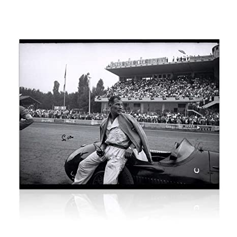 Stirling Moss Signed Formula One Photo: Italian Grand