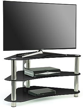 "Centurion GT7 - Mesa de cristal para TV de 26 a 43"" (LCD, Plasma, LED), color negro"