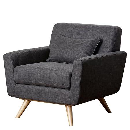 Abbyson Living Paisley Gray Tufted Fabric Armchair