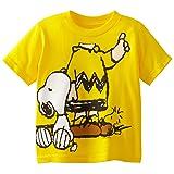 Peanuts Little Boys' Toddler Short Sleeve T-Shirt, Yellow, 4T