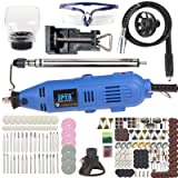 SPTA QA1409 180W Advanced Multi-functional Rotary Tool Kit with 234 Accessories and 4 Attachments Variable Speed for Around-the-House and Crafting Projects (Color: 234Pcs Rotary Tools Set)