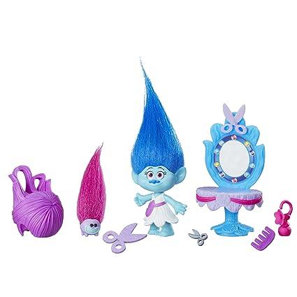 Dreamworks – Les Trolls – Salon de Coiffure de Maddy – Mini Figurine 5 cm + Accessoires