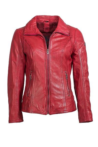 coole Lederjacke Gipsy schwarz rot S M L XL XXL Zipper Taschen kurz