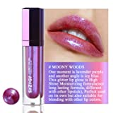 SYZYGY Lip Gloss, Duochrome Holographic Long Lasting Lip Topper, Iridescent Metallic Glitter Lip makeup,Moony Woods
