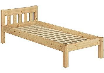 Solido letto futon per ragazzi 90x190 in pino Eco con assi di legno 60.38-09-190