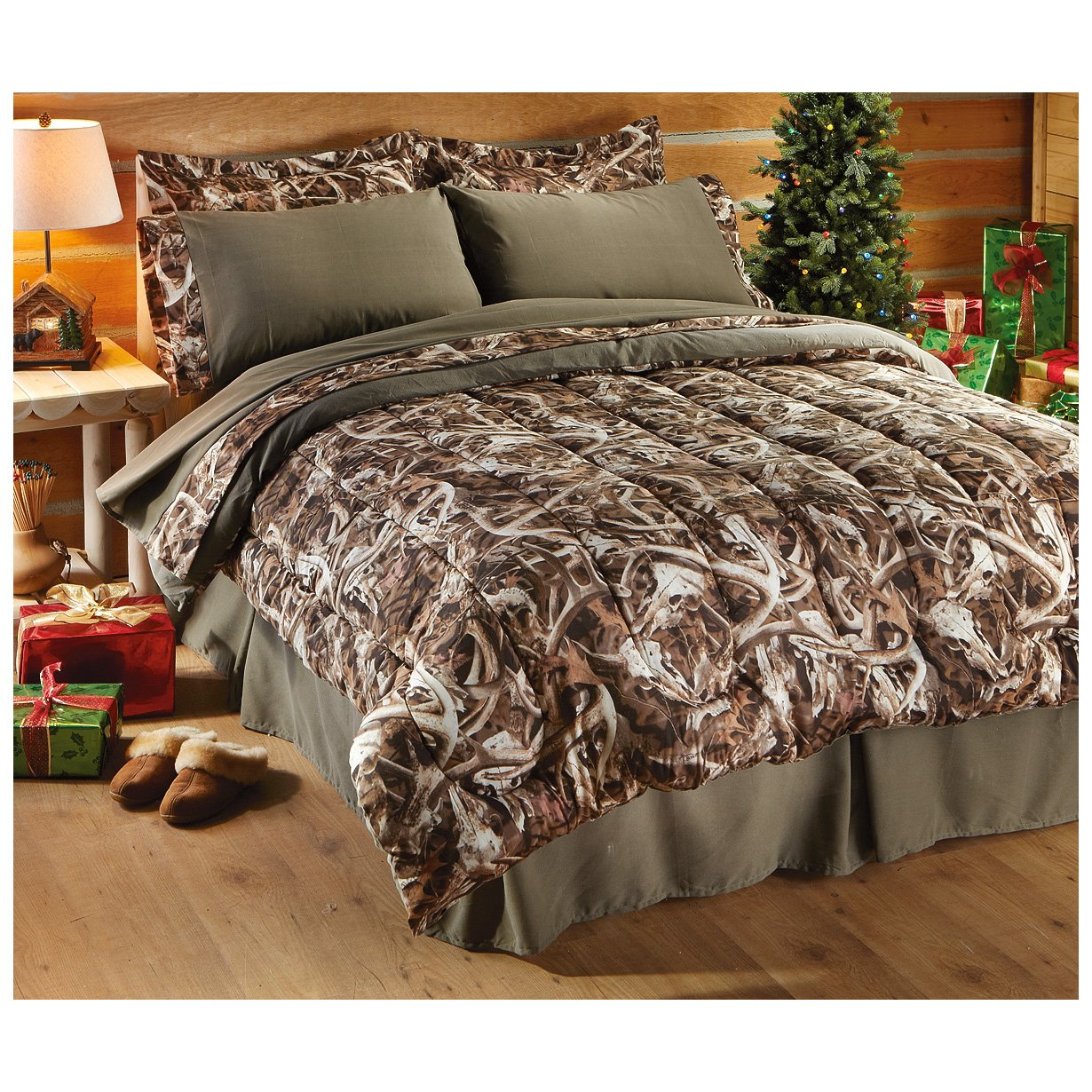 Next Camo Bonz Queen Bedding Set Camouflage Comforter