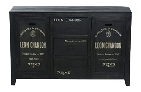 The Wood Times 15-IN7113 Sideboard 'Chandon', 2 Turen, 3 Schubladen