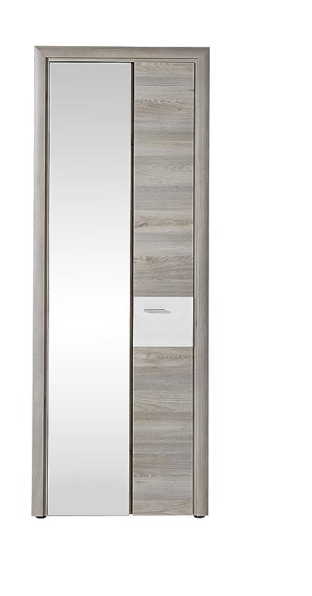 AVANTI TRENDSTORE - RABEA - Armadio da guardaroba in imitazione di quercia d'argento / larice, ca LAP: 75x202x37cm