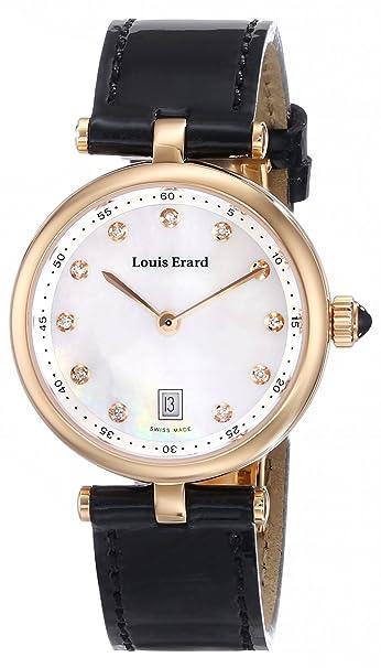 Louis Erard Women's 10800PR24.BRCA2 Romance Analog Display Quartz Black Watch