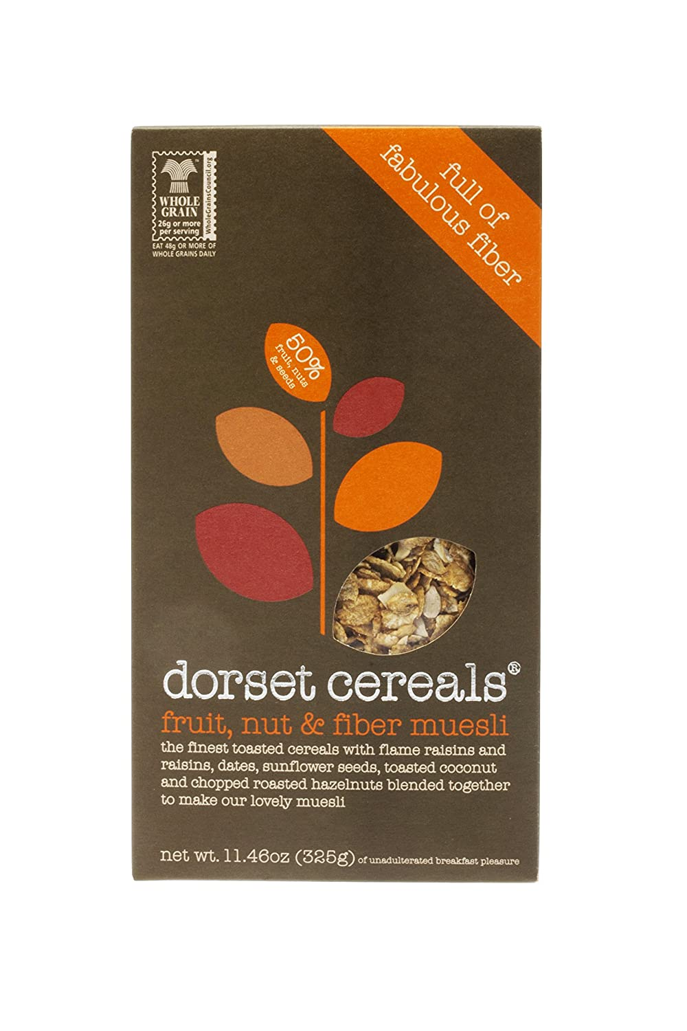 Dorset Cereals Fruit, Nut & Fiber Muesli, 11.46 oz (325 g) raw revolution fruit nut and seed superfood bars cranberry almond coconut 1 6 oz bars 12 count