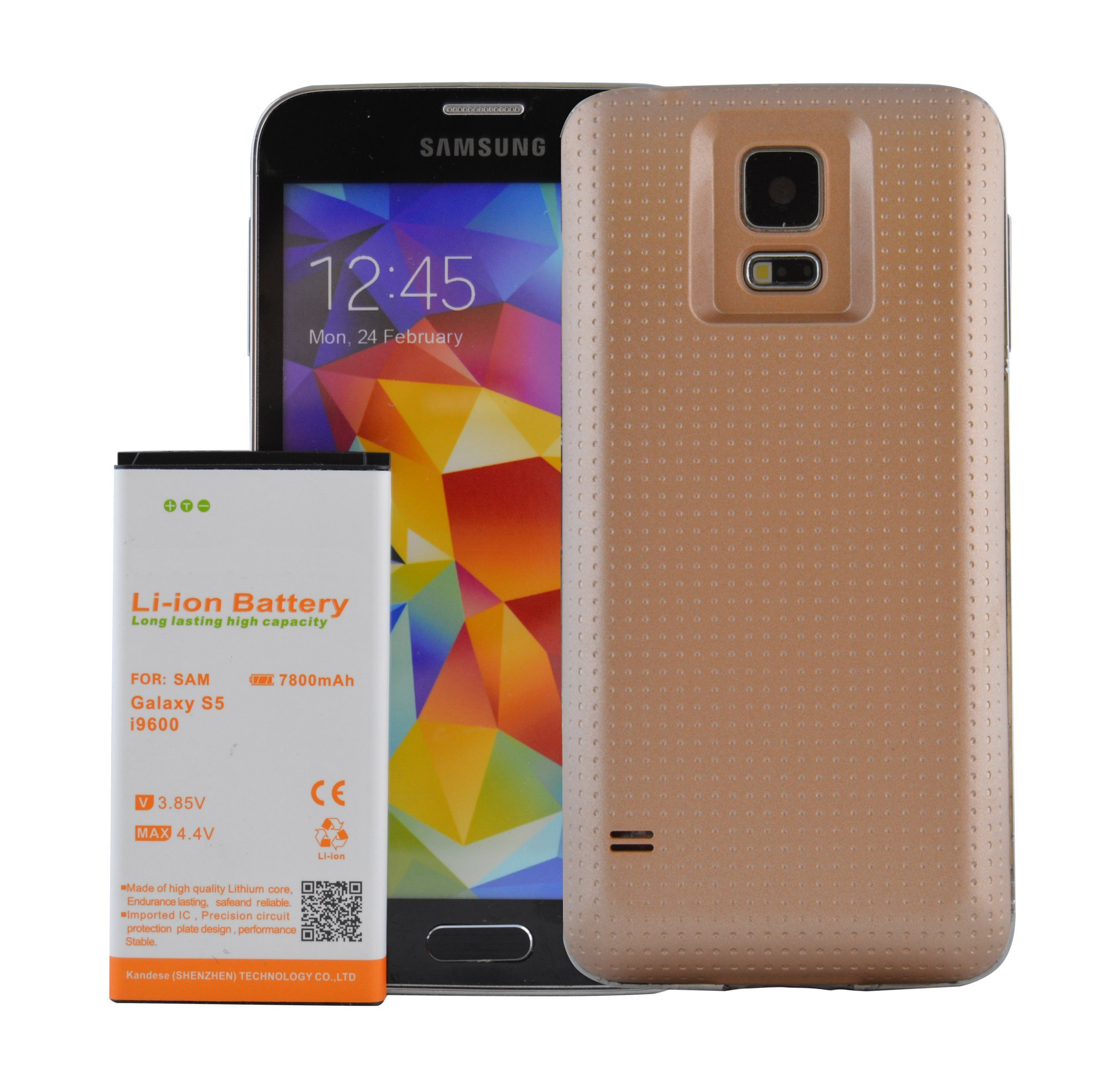 Samsung Galaxy S5 Extended Battery 7800 mAH Battery ...