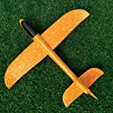 TAYARA Airplanes Throwing Styrofoam Foam Kids Toys Hand Manual Flying Glider Model Planes Airplane Outdoor Fun for Game Launch Big Size Aircraft DIY Inertial Educational (Orrange, 18.90 Inch) (Color: Orrange, Tamaño: 18.90 Inch)