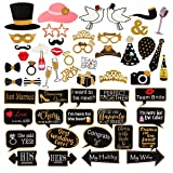60Pcs Wedding Photo Booth Props Pose Sign Kit,Bachelorette Christmas Holiday Wedding Birthday Party Decoration Supplies (Color: colorful)