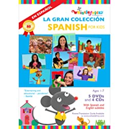 Spanish for Kids: La Gran Colecci�n 5 videos, 4 music albums