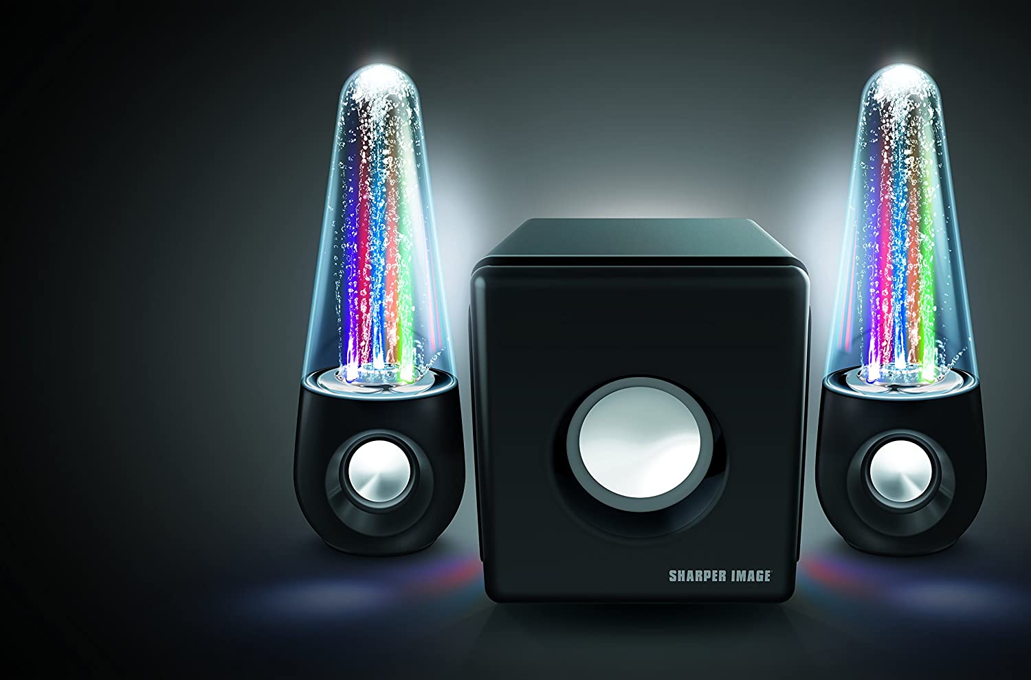 The Sharper Image SBT5002 dancing water speakers offer very good performance.