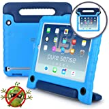 PURE SENSE BUDDY Kids Case compatible with Galaxy Tab E 9.6 | Anti Microbial Shock Proof Cover for Kids | Protective Case for Boys, Girls | Shoulder Strap, Handle & Stand | Samsung SM-T560 T561 (Blue) (Color: Blue, Tamaño: Galaxy Tab E 9.6)