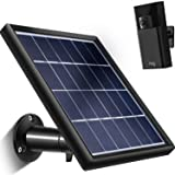 TOODOO Solar Panel for Ring Stick up Cam (Only), Cable with Micro USB Connector (16.4 ft), Waterproof Charge Continuously, 5 V/ 3.5 W (Max) Output (NOT FIT for Ring Spotlight/Arlo Cam) No Camera