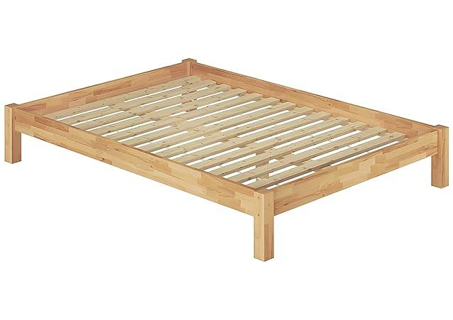 Matrimonio Letto Matrimoniale letto di 180X 200in legno di faggio letto in legno massello naturale Roll ruggine 60.84–18