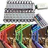 Storefront Light,EAGWELL 20 Ft RGB Store Front Lights 40 Pieces Module LED Lights,2 Set 5050 SMD 120 LED Module Window Strip Light for Letter Advertising Signs (Color: Rgb (Red, Green, Blue))