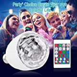 Disco Light Bulb,UPBASICN 2rd generation 3W E27 Disco LED Light Bulb with 15 Color Changing Mode Party Bulb /Stage Light -Rotating Sound Activated Strobe Light with Remote Control (Color: 15 Color)