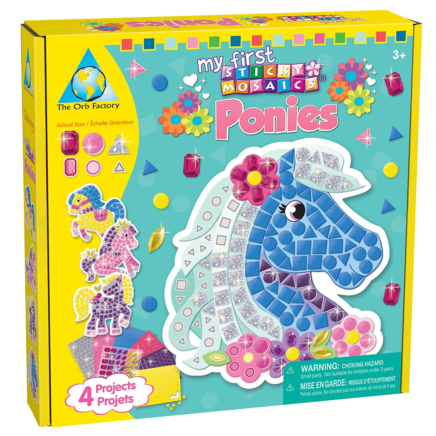Craft kits for 3 year olds - Sticky Mosaics Ponies