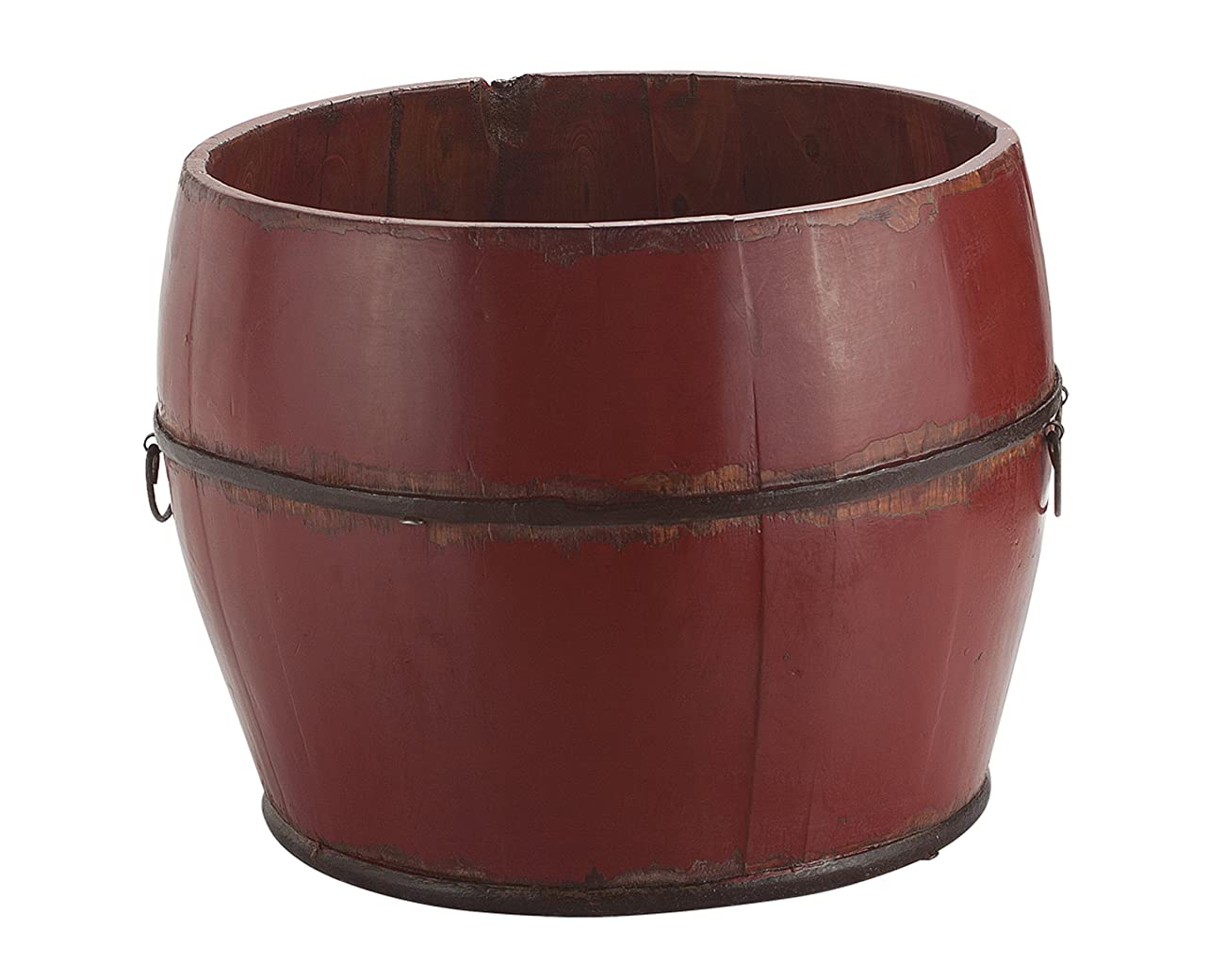Antique Revival Vintage Benton Bucket, Red 0