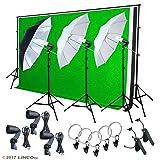 LINCO Lincostore Photography Lighting Photo Light Softbox Backdrop Stand Muslin Kit AM137