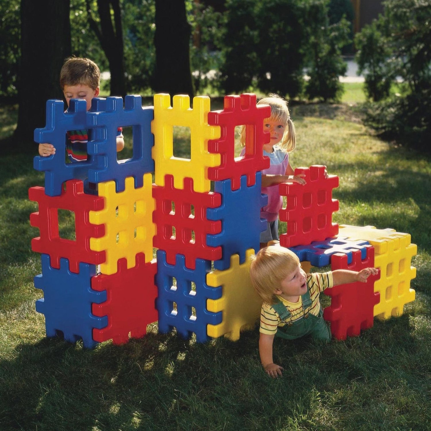 Big Waffle Blocks By Little Tikes (18 Classic Jumbo Waffle Blocks) little tikes мульти горка little tikes
