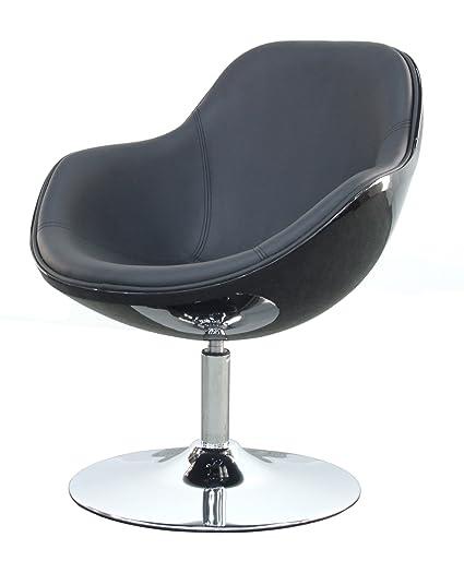 Tenzo 0651-824 Tequila 2-er Set Lounge Sessel, Kunststoff, schwarz, 67 x 69 x 78 cm